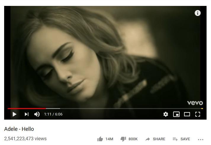پربازدید ترین ویدیو های یوتیوب
