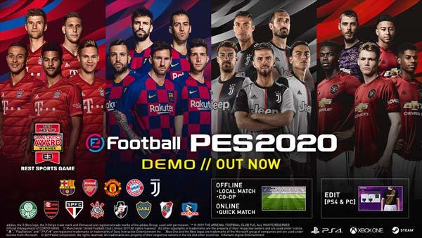 گیم پلی بازی pes 2020